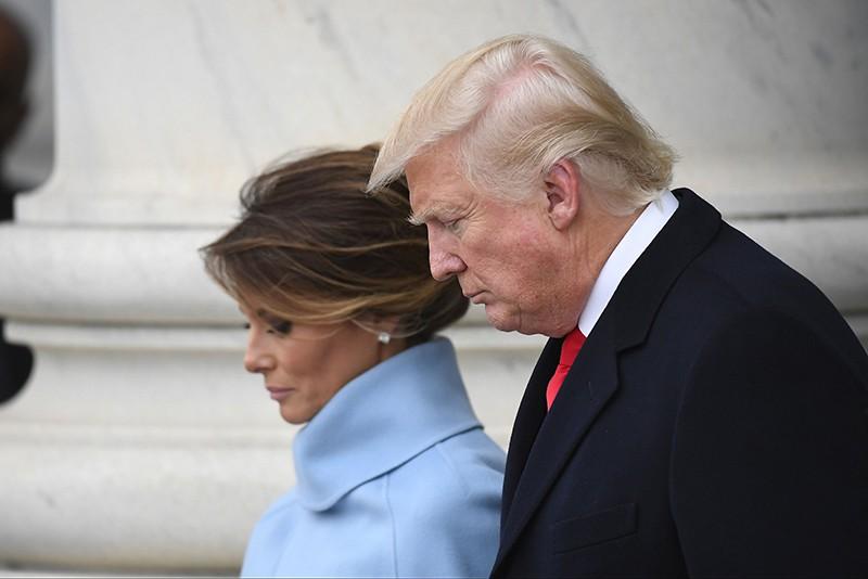 Президент США Дональд Трамп и его жена Меланьи Трамп