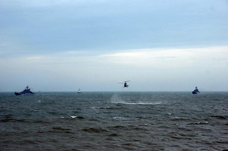 Военные учения в акватории Черного моря