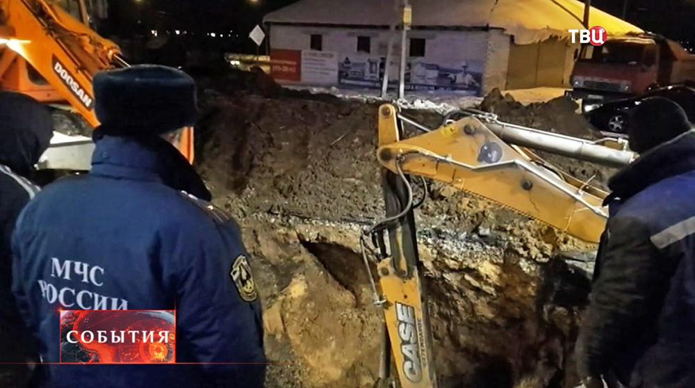 Устранение аварии в Воронеже