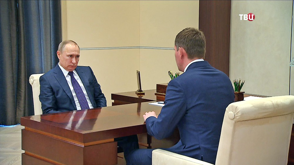 Владимир Путин и Максим Решетников