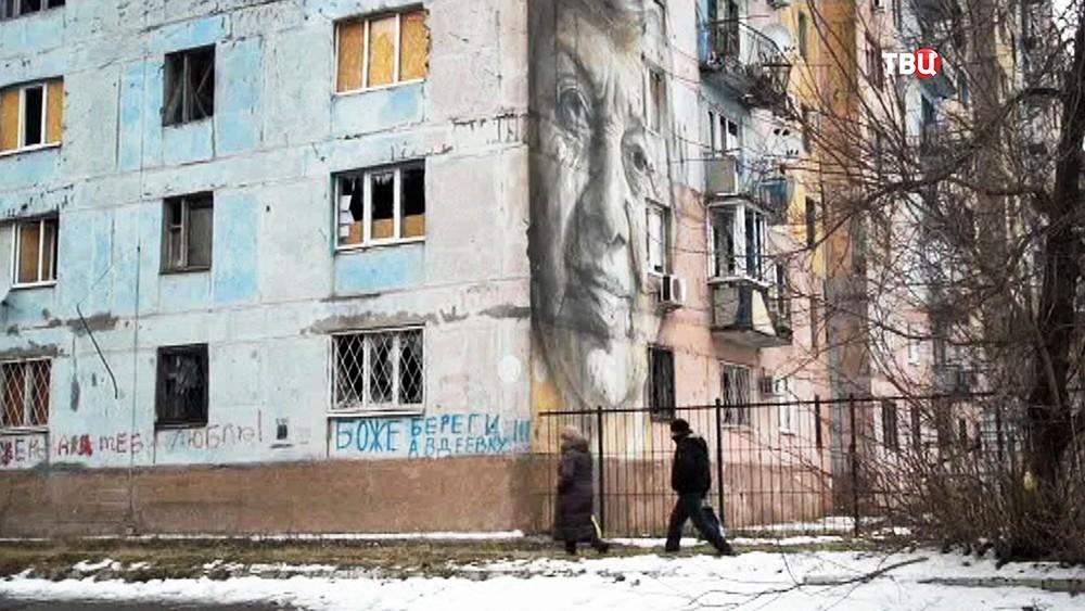 Последствия обстрел жилых районов Донбасса