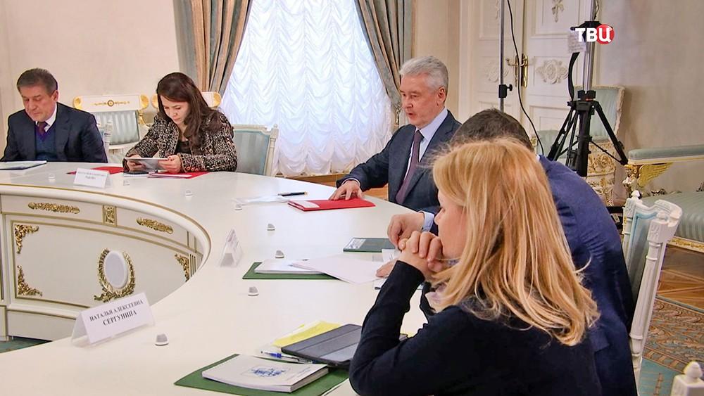 Мэр Москвы Сергей Собянин на встрече с представителями ОНФ