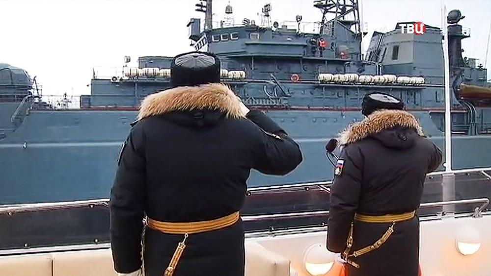 "Встреча авианосца ""Адмирал Кузнецов"""