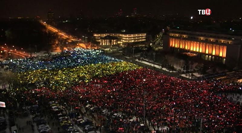 Антиправительственные протесты в Румынии