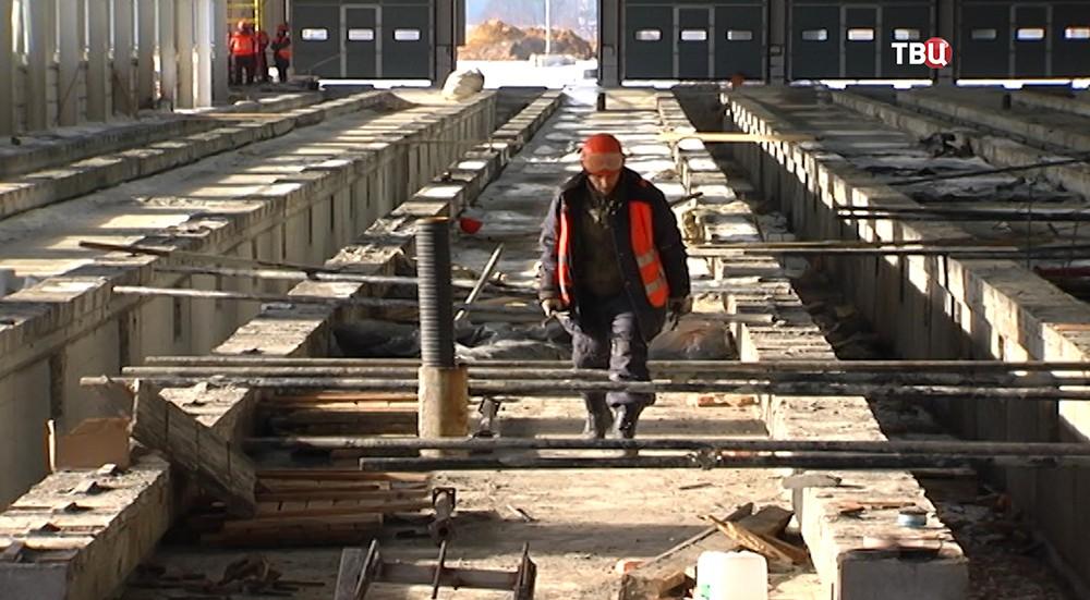 Строительство электродепо Руднёво