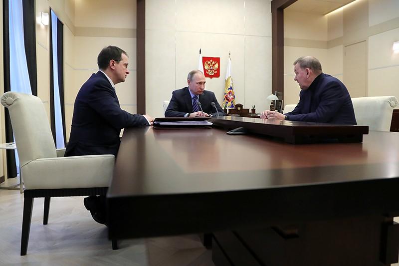 Президент России Владимир Путин, Владимир Мединский и Владимир Урин