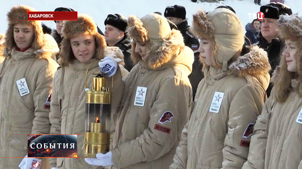 Огонь Всемирных военных игр доставили в Североморск