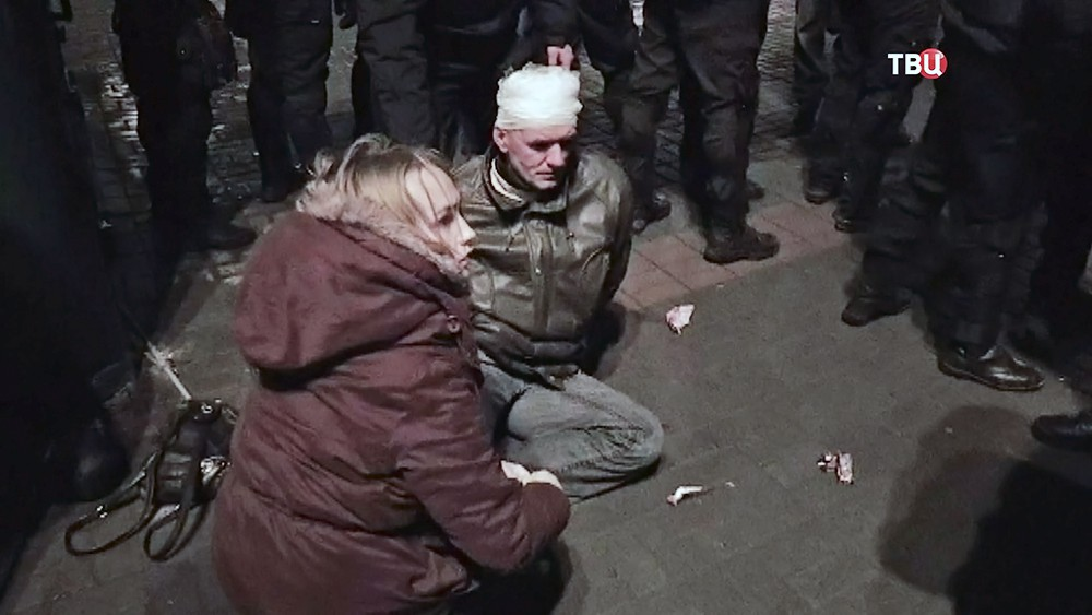 Пострадавшие в беспорядках в Киеве