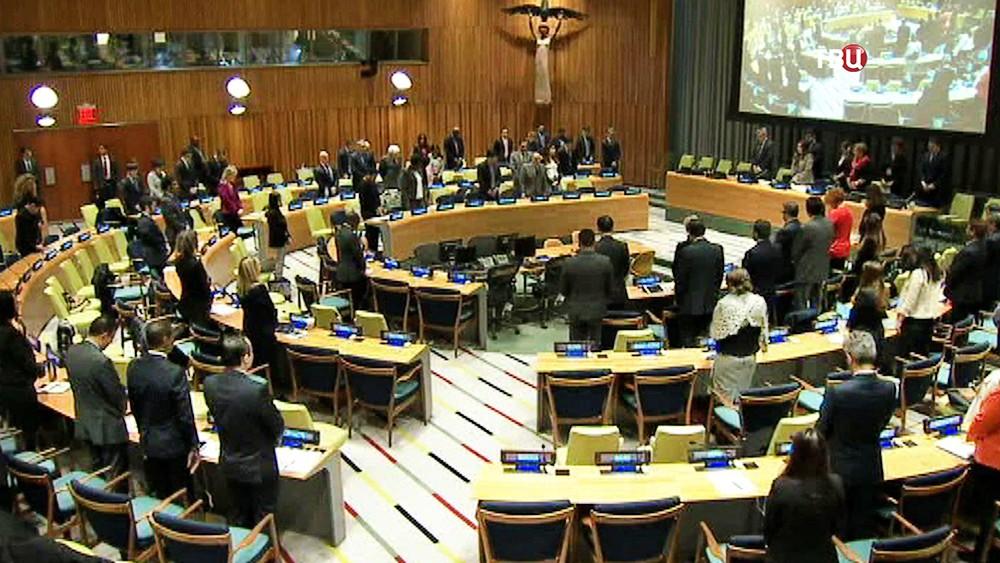 Минута молчания на заседании в ООН в память о Виталии Чуркине