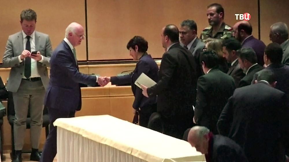 Стаффан де Мистура на межсирийских переговорах в Женеве