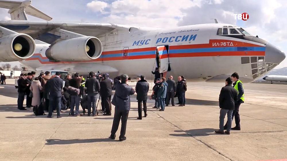 Самолет Ил-76 МЧС России доставил в Сирию гумпомощь