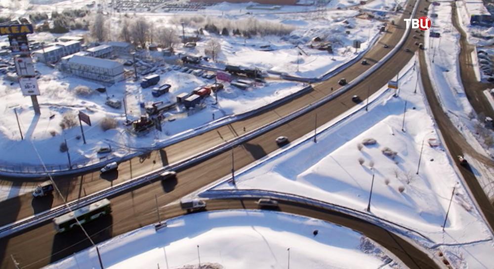 Транспортная развязка на пересечении МКАД и Профсоюзной улицы