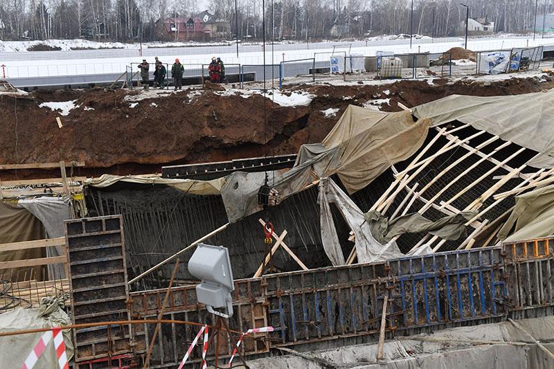 Обрушение строящегося тоннеля на Калужском шоссе