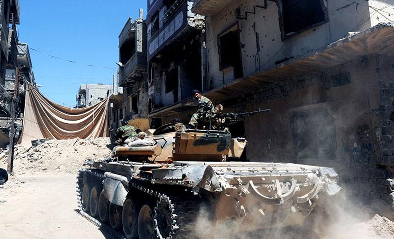 Танк сирийской армии