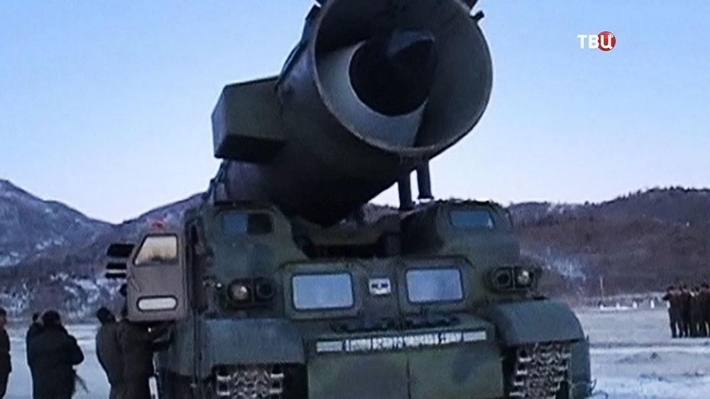 Ракетная установка армии КНДР
