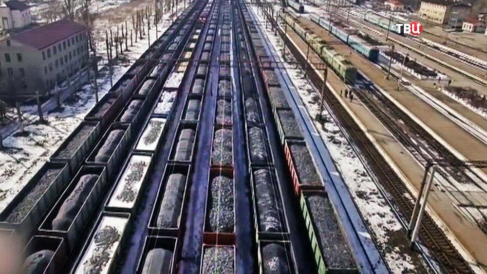 Товарные поезда с углем
