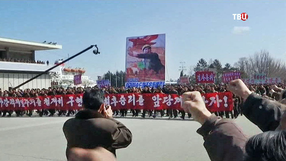 Митинг в КНДР