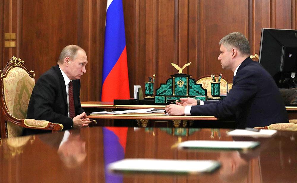 Владимир Путин иОлег Белозеров обсудили результаты работы РЖД в 2016г.