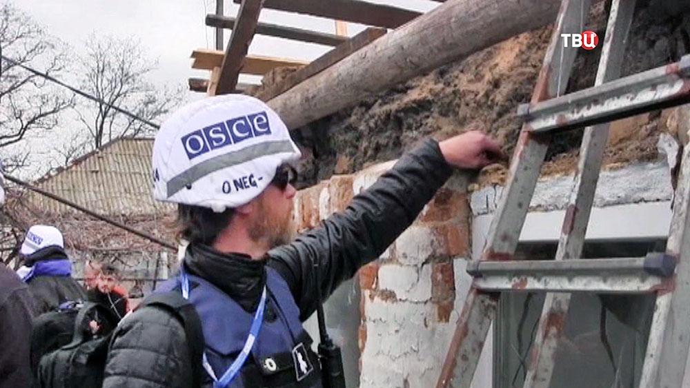 Наблюдатели ОБСЕ на месте обстрела жилых районов в Донбассе