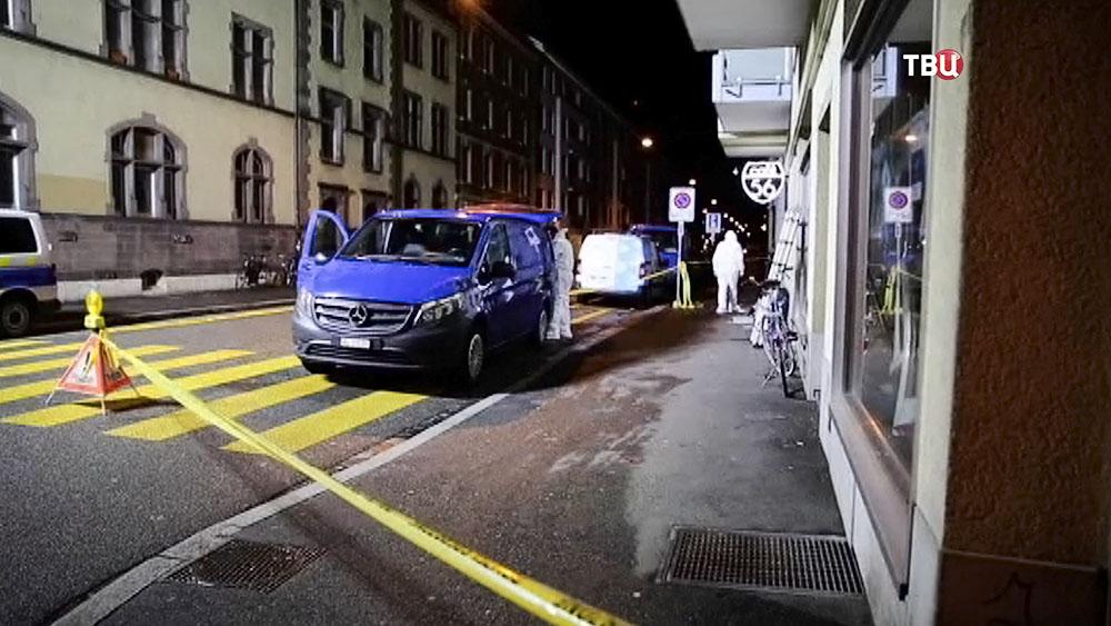 Полиция Швейцарии на месте происшествия