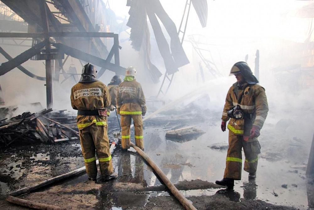 Последствия пожара на заводе