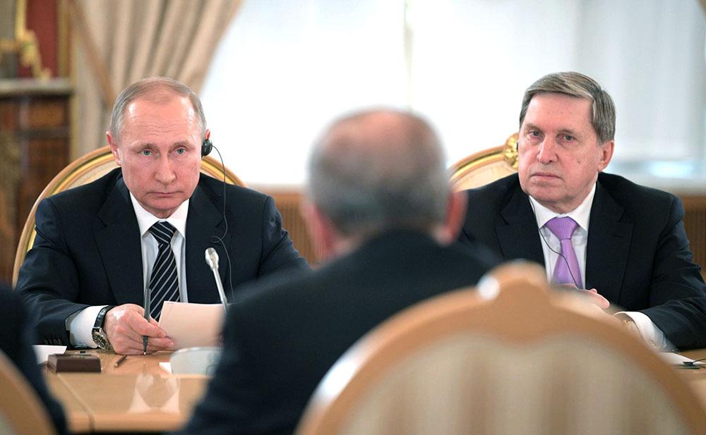 Владимир Путин, Юрий Ушаков и Реджеп Тайип Эрдоган