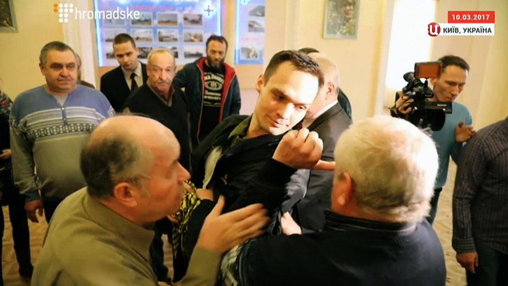 Украинский радикал Дмитрий Резниченко на заседании Госслужбы по делам ветеранов Украины