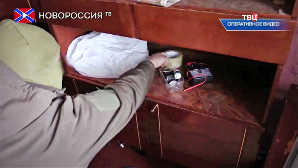 Обыск на квартире украинских диверсантов