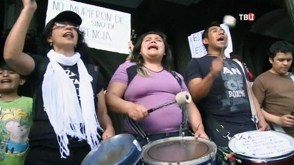 Митинг в Гватемале