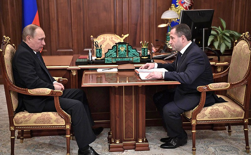 Владимир Путин и Президент в Полномочный представитель Президента в Приволжском федеральном округе Михаил Бабич