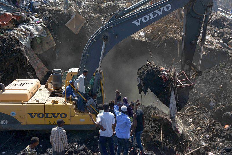 Обрушение мусорной свалки в Эфиопии
