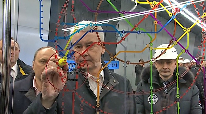 Сергей Собянин на открытии новой станции
