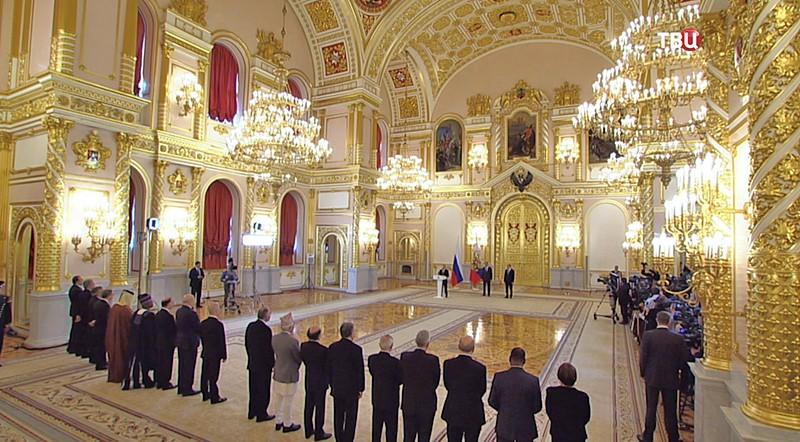 Президент России Владимир Путин на церемонии вручения верительных грамот послами иностранных государств
