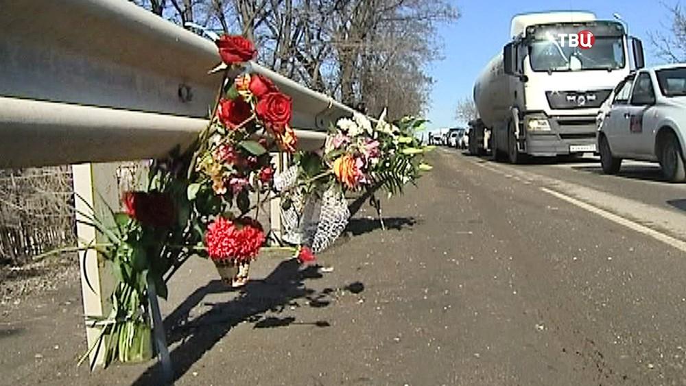 Место гибели водителя в Ставрополе