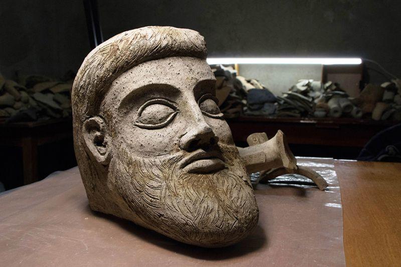 Фрагмент скульптуры найденной в Керченской бухте