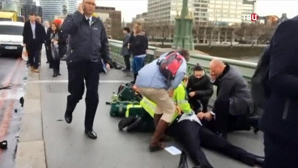 Пострадавшие в теракте в Лондоне