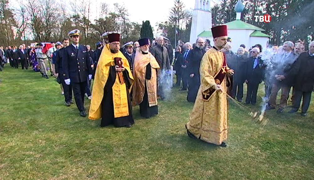 Траурная церемония на российском кладбище во Франции