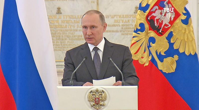 Путин объявил онеобходимости серьезного перевооружения армии ифлота