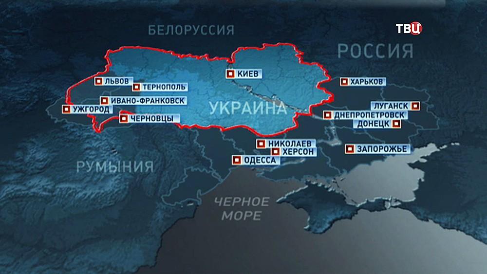 Политологическая карта Малой Украины