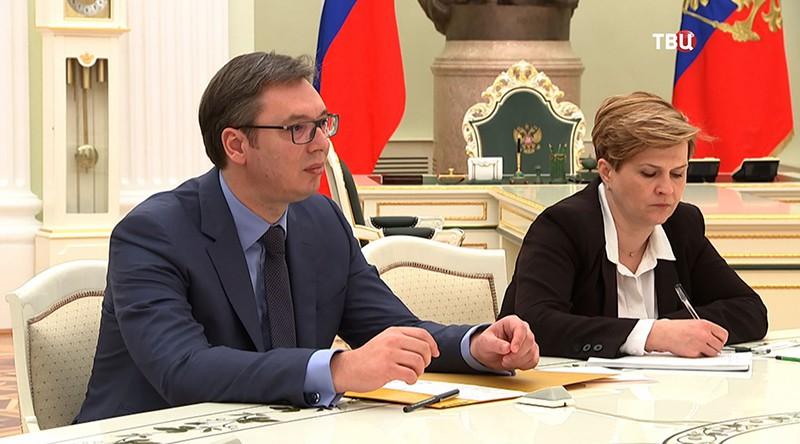 Председатель правительства Сербии Александр Вучича