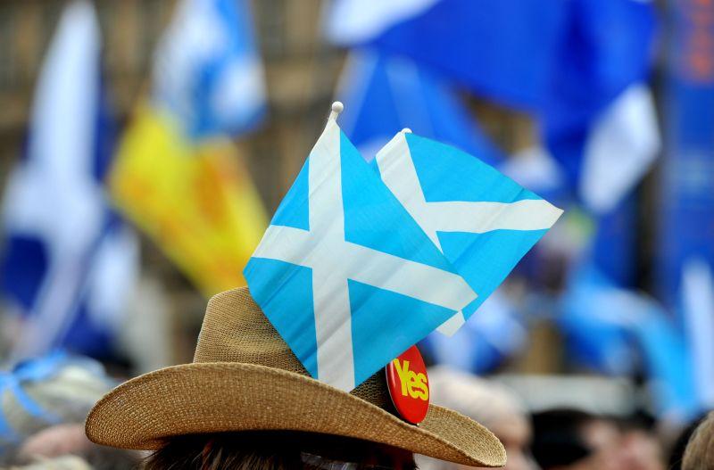 Участник акции за независимость Шотландии