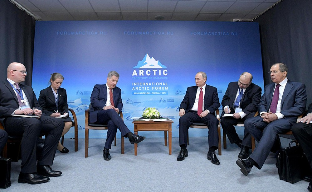 Президент России Владимир Путин и президент Финляндии Саули Ниинистён