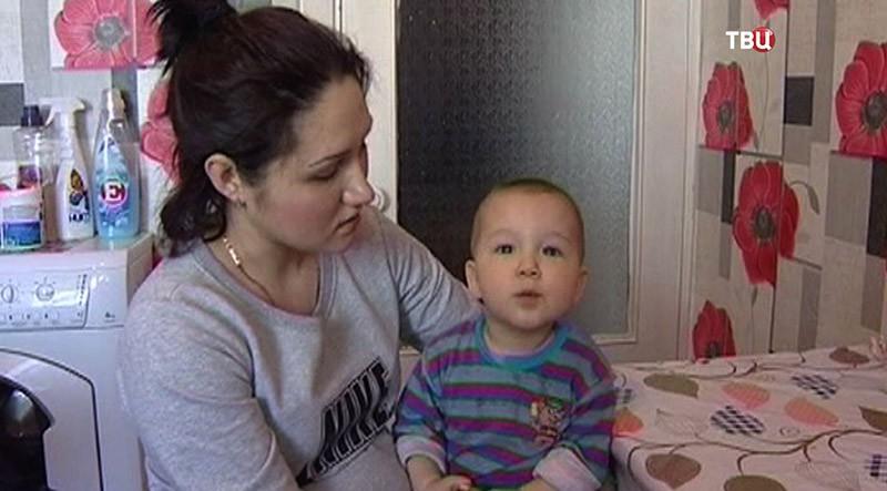 Гузель Махмудова с сыном