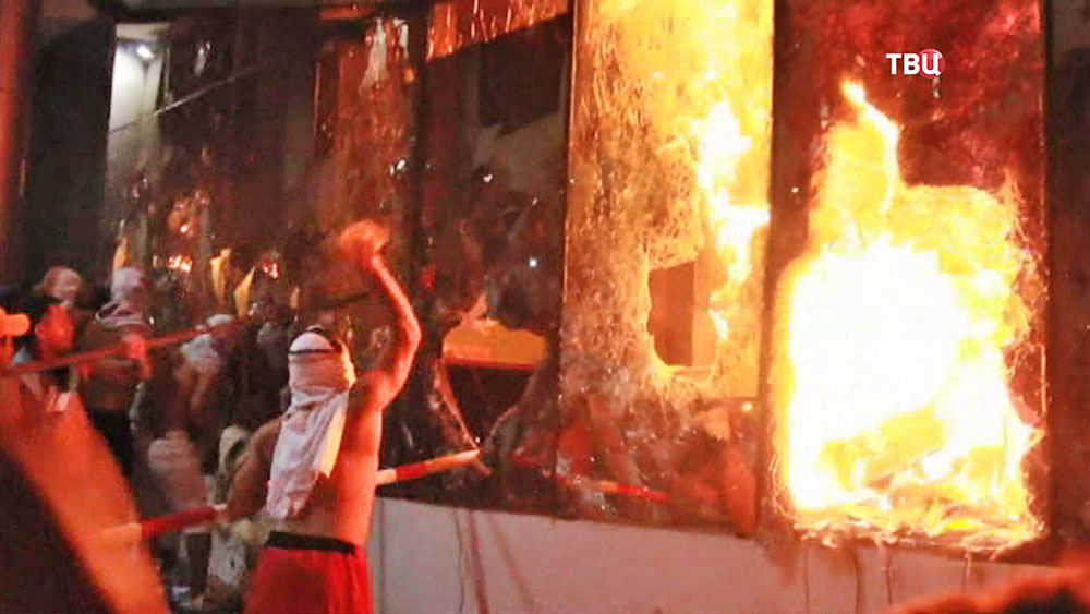 Уличные беспорядки в Парагвае