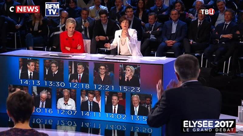 Теледебаты кандидатов во Франции