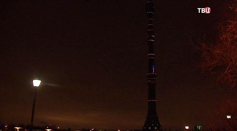 Останкинская башня без подсветки