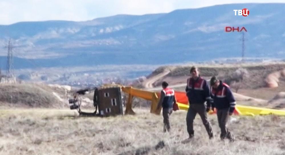 Крушение воздушного шара в Турции