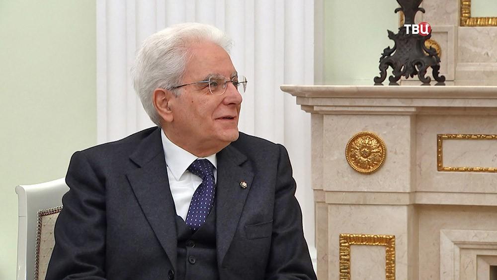 Президент Италии Серджо Маттарелла