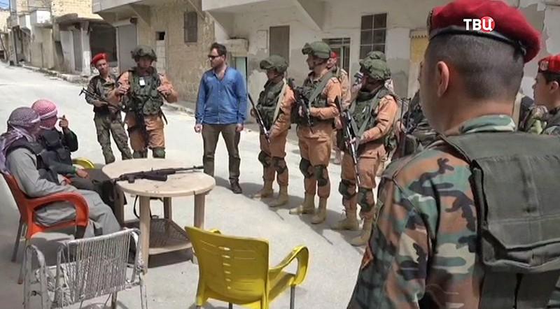 Военная полиция России и Сирии в Алеппо