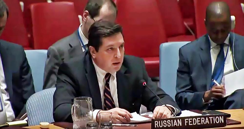 Заместитель постпреда России при ООН Владимир Сафронков